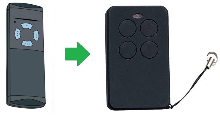 Hormann HS4 met blauwe knoppen handzender / afstandsbediening
