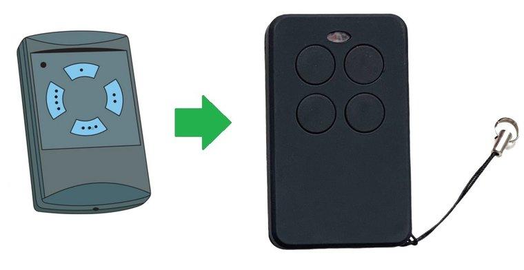 Hormann HSE4 met blauwe knoppen handzender / afstandsbediening