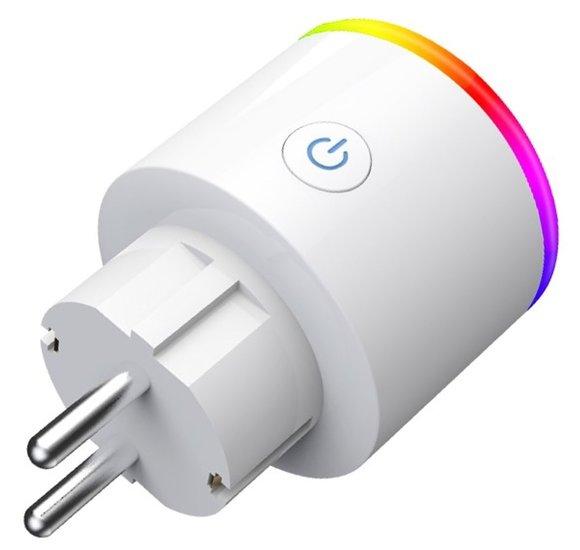 Smart plug - 1 stuk - Slimme stekker 16A - Google Home (Google Assistant) - met stroommeter