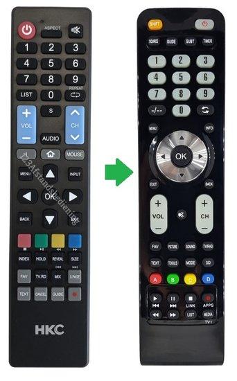 HKC televisie afstandsbediening