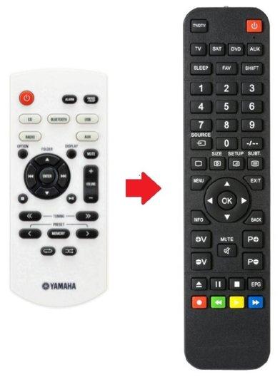 Alternatieve Yamaha ZU40710 afstandsbediening