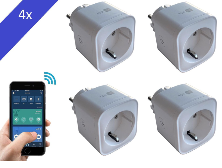 BELIFE® Smart Plug - 4 stuk - Slimme Stekker met ENERGIEMETER - Google Home & Amazon Alexa Compatible - Smart Home