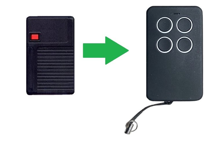 Aeterna TX433 1 knop (alternatieve handzender)