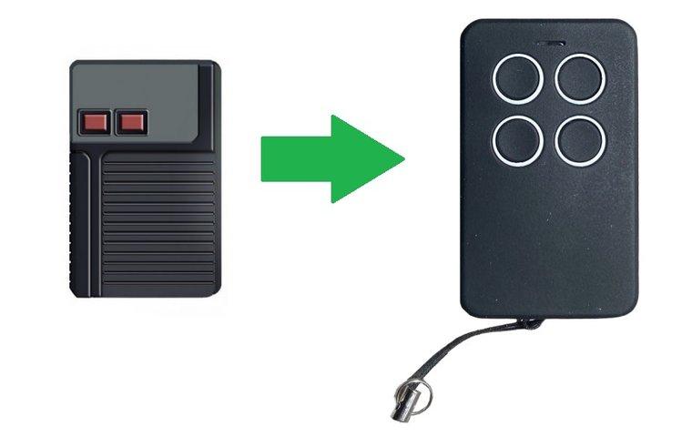 Aeterna TX433 2 knoppen (alternatieve handzender)