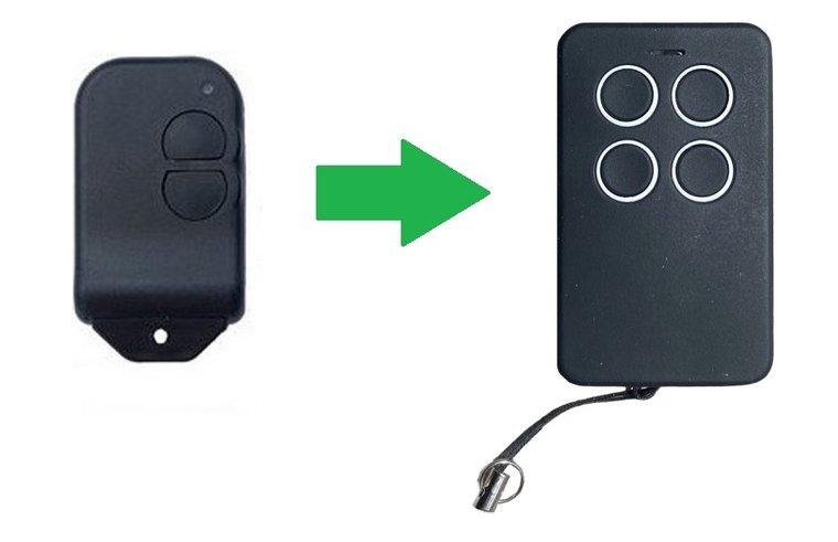 Alltronik S429 met 1 knop (alternatieve handzender)