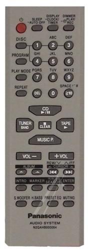 Panasonic N2QAHB000064 afstandsbediening
