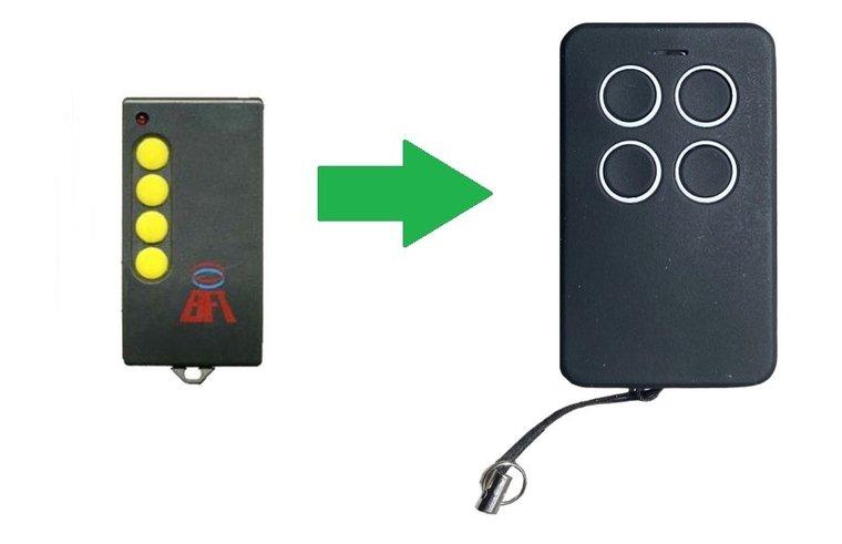 BFT GT02 met 2 knoppen (alternatieve handzender)