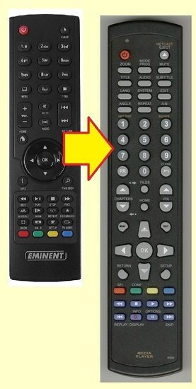 Eminent EM7180 afstandsbediening