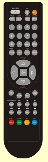 LTE LCD2215DVD afstandsbediening