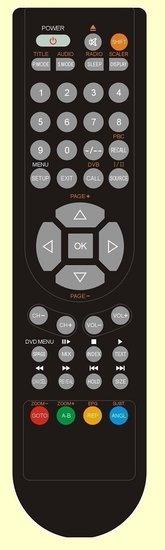 Salora 24LCF4005D afstandsbediening