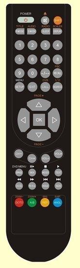 Salora 24LCF5000TDW afstandsbediening