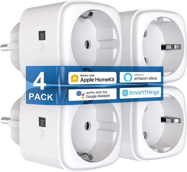 BELIFE Apple Homekit Smart Plug- 4 Pack