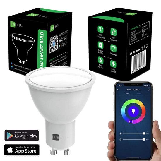 Smart GU10 LED Lamp - Slimme Lampen - Dimbaar - RGB