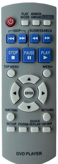 Alternatieve Panasonic N2QAYB000011 afstandsbediening