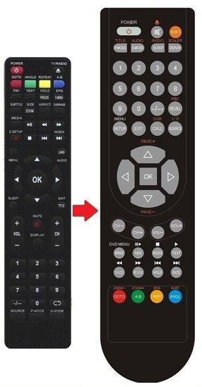 JTC CANOX LED TV 241KL afstandsbediening
