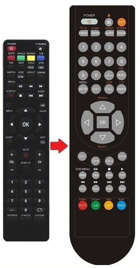 JTC LED TV 2040C afstandsbediening