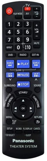 Panasonic N2QAYB000456 afstandsbediening