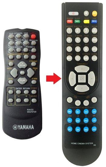 Alternatieve Yamaha RAV22 afstandsbediening