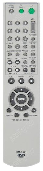 Sony DVD-speler afstandsbediening