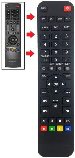 Alternatieve Sharp GB042WJSA afstandsbediening