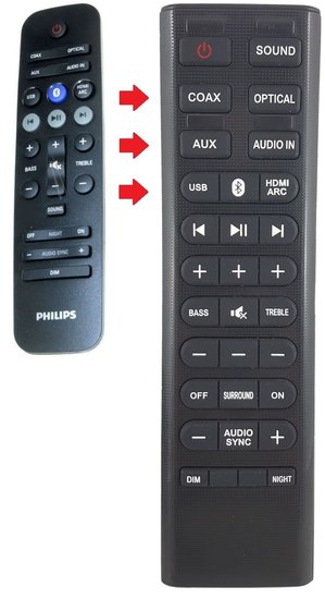 Alternatieve Philips 996580005101 afstandsbediening
