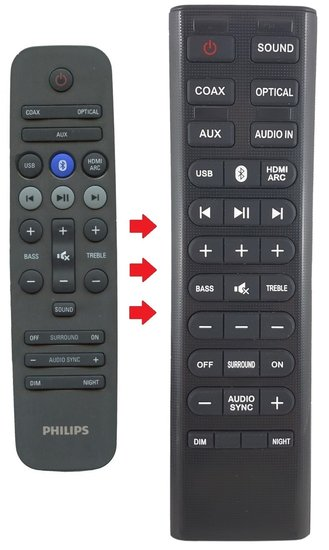 Alternatieve Philips 996580000536 afstandsbediening