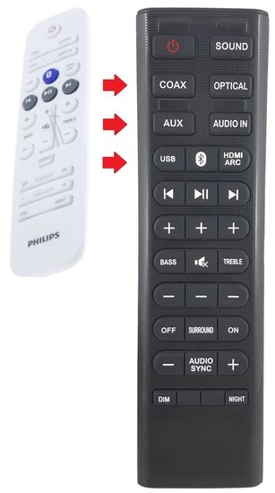 Alternatieve Philips 996580002323 afstandsbediening