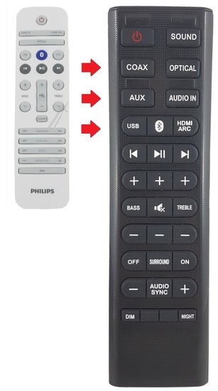 Alternatieve Philips 996580002346 afstandsbediening