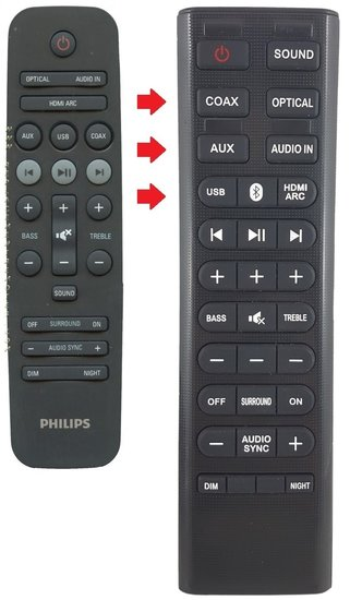 Alternatieve Philips 996580000772 afstandsbediening