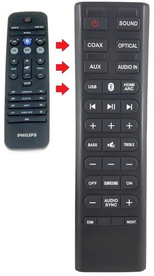 Alternatieve Philips 996580001238 afstandsbediening