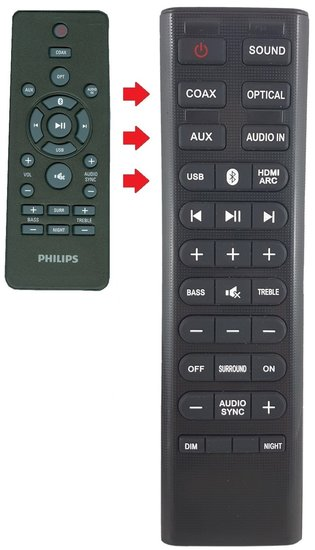 Alternatieve Philips 996580004176 afstandsbediening