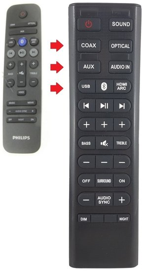 Alternatieve Philips 996580005296 afstandsbediening