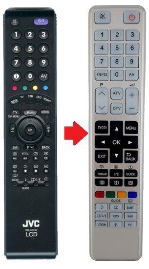 Alternatieve JVC RM-C1932 afstandsbediening