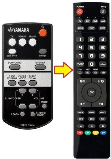 Yamaha FSR73 ZP80760 afstandsbediening