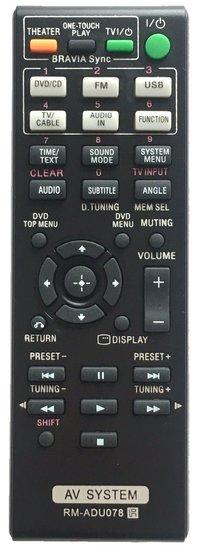 Alternatieve Sony RM-ADU078 en RM-ADU079 afstandsbediening