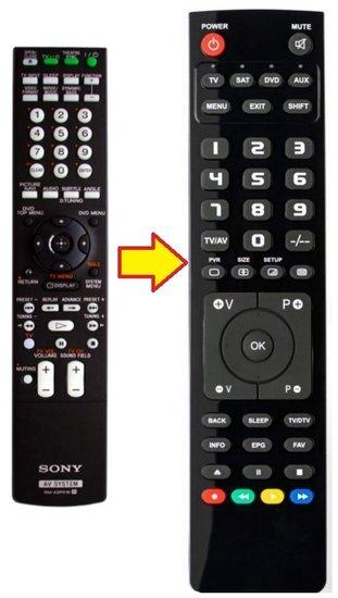Alternatieve Sony RM-ADP016 afstandsbediening