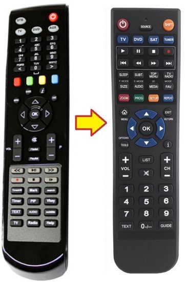 XTREND ET-9000 | ET-9100 | ET-9200 afstandsbediening