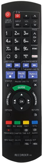 Alternatieve Panasonic N2QAYB001077 afstandsbediening