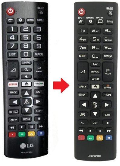 Alternatieve LG AKB75375608 afstandsbediening