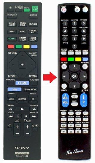 Alternatieve Sony RM-ADP120 afstandsbediening
