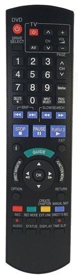 Alternatieve Panasonic N2QAYB000460 afstandsbediening
