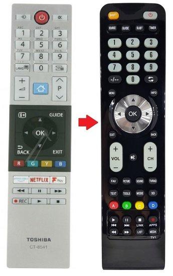 Alternatieve Toshiba CT-8541 afstandsbediening