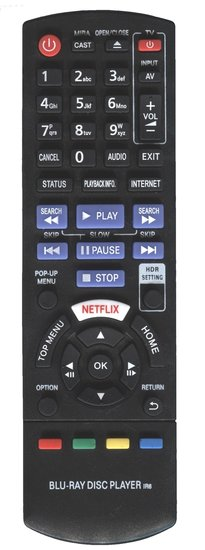 Alternatieve Panasonic N2QAYB000881 afstandsbediening