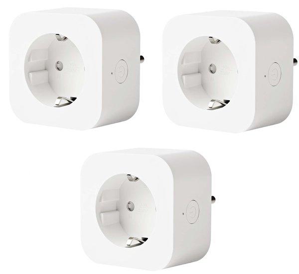 Smart plug - Set van 3 - Slimme stekker - Google Home (Google Assistant) - Schakelt tot 2000W