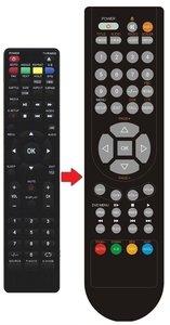 JTC LED TV 2401 afstandsbediening