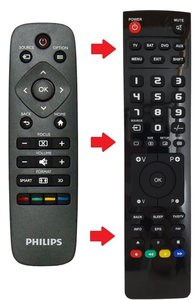 Philips HDP2510 afstandsbediening