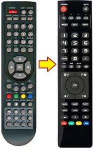 Q-media QLENM22A5 afstandsbediening