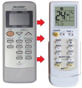Sharp 9JX30510498-S afstandsbediening voor de CV-P10PR