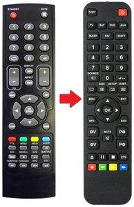 Q-Media QLE2478AFD afstandsbediening