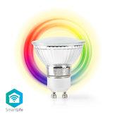 Wi-Fi-Smart-LED-Lamp- -Full-Colour-en-Warm-Wit- -GU10- -RGB- -360-LUMEN